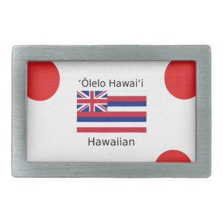 Hawaiian Flag And Language Design Belt Buckle