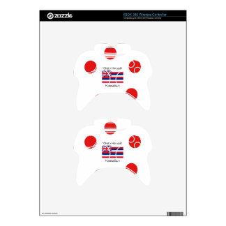 Hawaiian Flag And Language Design Xbox 360 Controller Skin