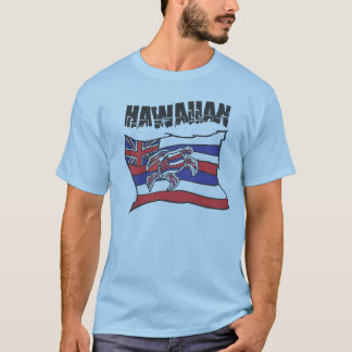 Hawaiian Flag Blue Shirt