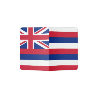 Hawaiian flag passport holder