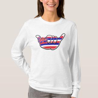 Hawaiian flag shaka sign ladies hoodie