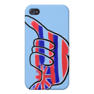 Hawaiian flag shaka symbol iphone 4 case