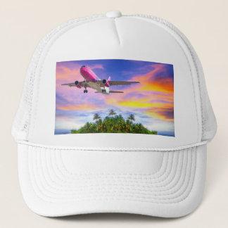 hawaiian flight trucker hat