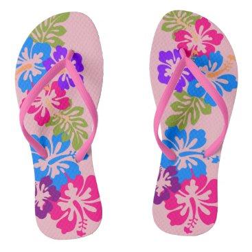 Beach Themed Hawaiian Flip Flops