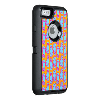 Hawaiian Flip Flops in Blue & Orange OtterBox Defender iPhone Case