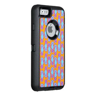 Hawaiian Flip Flops in Blue & Orange OtterBox iPhone 6/6s Case