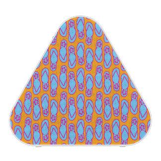 Hawaiian Flip Flops in Blue & Orange Speaker