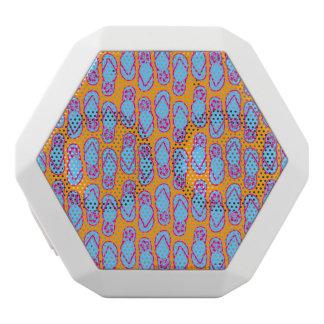 Hawaiian Flip Flops in Blue & Orange White Bluetooth Speaker