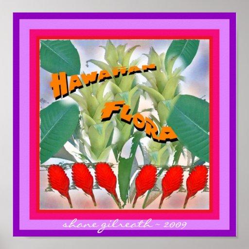 HAWAIIAN FLORA ART PRINT