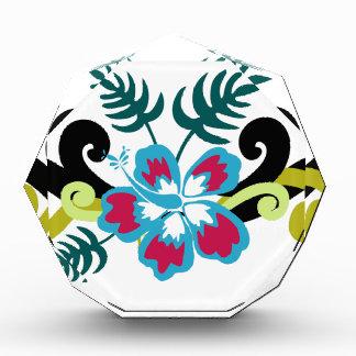 Hawaiian Floral Acrylic Award