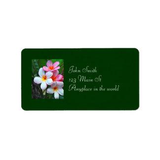 Hawaiian floral address label