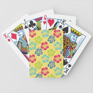 Hawaiian floral del hibisco cartas de juego