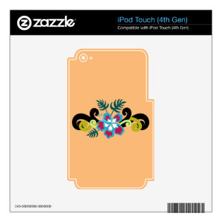 Hawaiian Floral iPod Touch 4G Decals
