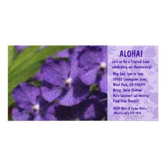 Hawaiian Floral Luau Invitations