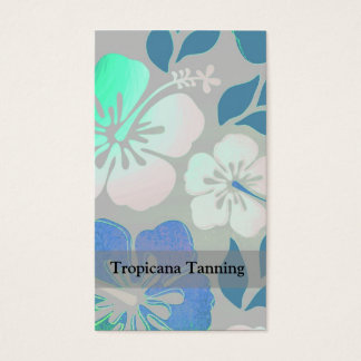 Hawaiian Floral Pattern Personalized Business Card