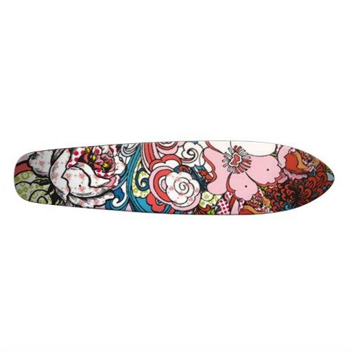 Hawaiian Floral Skateboard