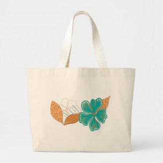 hawaiian flower canvas bags