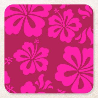 Hawaiian flower coaster