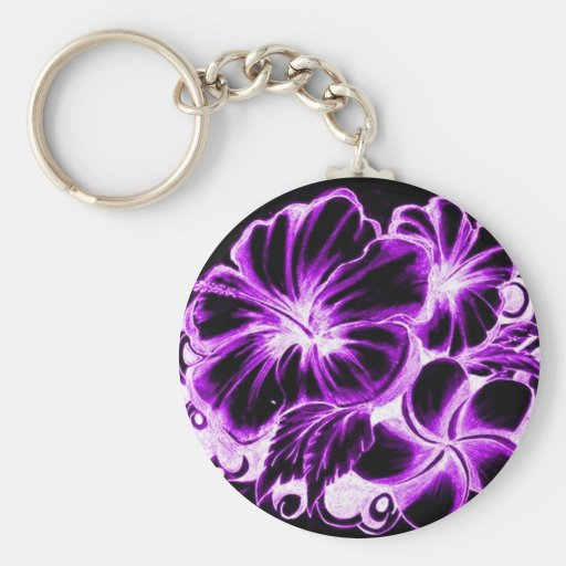Hawaiian Flower Keychain