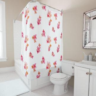 hawaiian flower lg shower curtain