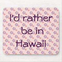 Hawaiian flower pink and purple mouse pad