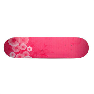 'HAWAIIAN FLOWER' (PINK) skateboard