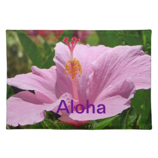 Hawaiian flower placemat