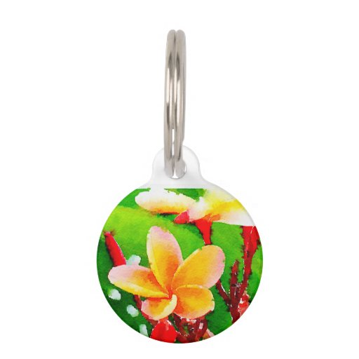 Custom Flower Dog Tags For Pets
