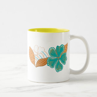 hawaiian flower Two-Tone coffee mug