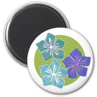 Hawaiian Flowers 1 2 Inch Round Magnet