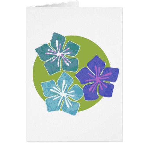 Hawaiian Flowers 1 Card