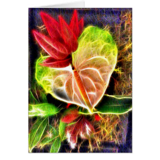 Hawaiian Flowers 4 Cards