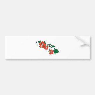 Hawaiian Flowers Bumper Stickers