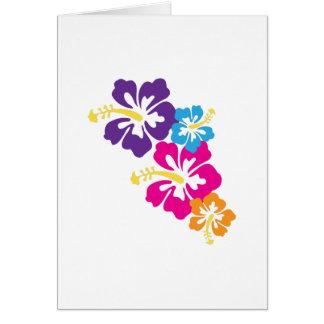 Hawaiian Flowers Greeting Card
