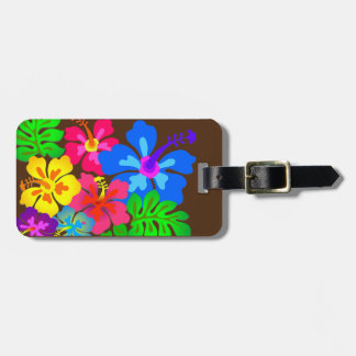 Hawaiian Flowers Hibiscus Art Bag Tag