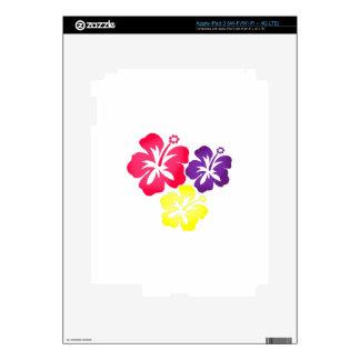 Hawaiian Flowers iPad 3 Decal
