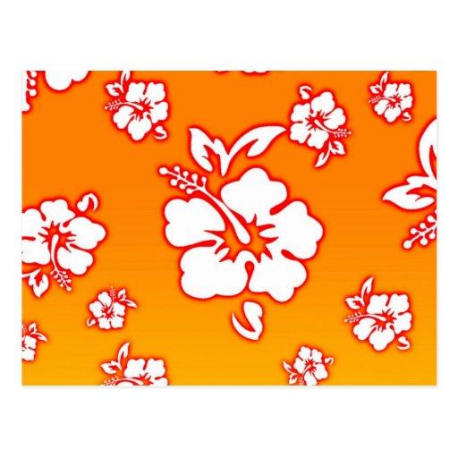 Hawaiian Flowers Postcard