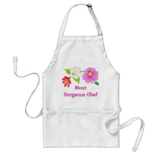 Hawaiian Flowers Pretty Aprons Printed Custom