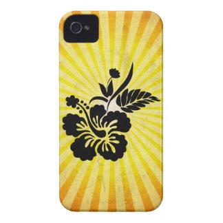 Hawaiian Flowers Silhouette iPhone 4 Cover