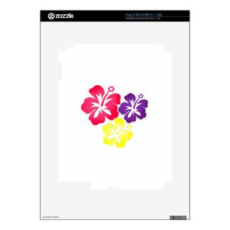 Hawaiian Flowers Skin For iPad 2