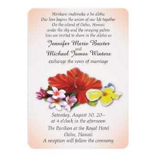 Hawaiian Flowers Wedding Invitations