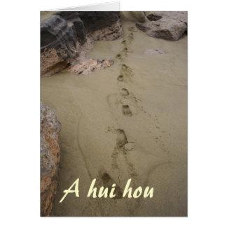 Hawaiian Footprints in Beach Sand Sympathy Stationery Note Card