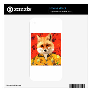 Hawaiian Fox iPhone 4S Decal