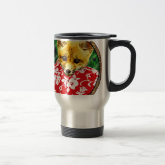 hawaiian fox round travel mug