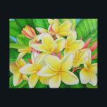 "Hawaiian Frangipani Canvas Print<br><div class=""desc"">Hawaiian plumeria (aka frangipani),  painted in watercolor in Hawaii.</div>"