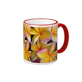 Hawaiian Frangipani Ringer Mug