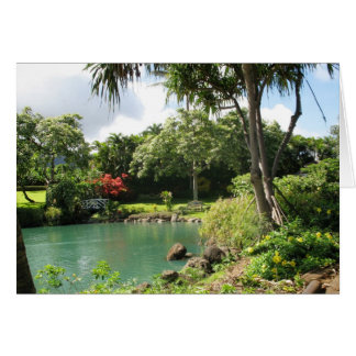 Hawaiian Garden Note Card w/Verse