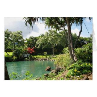 Hawaiian Garden Note Card w/Verse