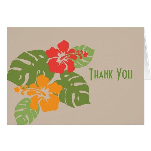 Hawaiian Garden Thank You Card