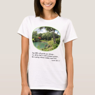 Hawaiian Garden Women's T-Shirt w/Verse